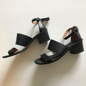 Madewell back leather block heel sandals 6.5